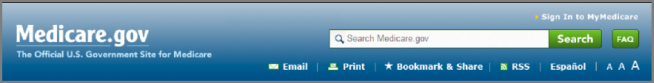 Screenshot of Medicare.gov header with Print icon