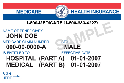 Old Medicare Card - Front